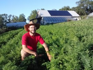 Wes in Carrot Field