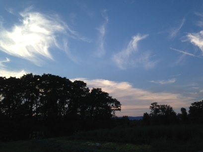 We just can't get enough of the evening skies over the farm.