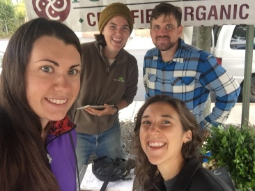 We got a sweet reunion this weekend--last year's 2W crew helped me with market on Saturday. THANK YOU Alli, Joe, and Anna!